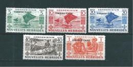 Timbres Taxes De Nouvelles Hébrides De 1953 N°26 A 30 Neufs Tres Petite Trace De Charnière - Impuestos