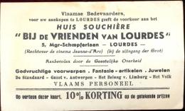 Carte Visite Visitekaartje - Huis Souchère Vrienden Van Lourdes - Cartes De Visite