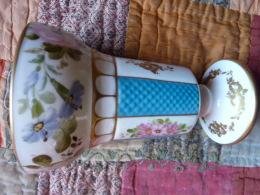 Très Beau Vase  Peint Main Charles X - Céramiques