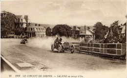 Grand Prix De France - 1908 - Circuit De Dieppe - La Mercedes De Otto Salzer Au Virage D'Eu  -  CPA - Grand Prix / F1