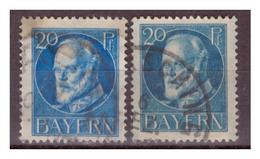 Bayern, Nr. 97a I+II, Gestempelt - Bavaria