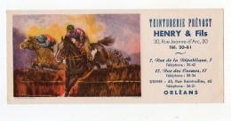 Juin16   75358   Buvard  Teinturerie Prévost Orléans Cheavaux   Passage De Haies - Textile & Vestimentaire