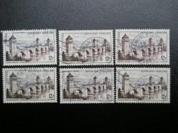 N° 1039  Année 1955  Pont Valentré Cahors .Lot De 6  Belles Frappes - Usati