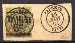 TGC/ Tahiti  N° 4  Oblitération Papeete 1884 Signé  , Cote :  400,00 € , Album 12 - Unused Stamps