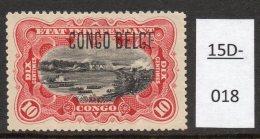 Belgian Congo Belge : COB 41PT (Tirage Des Princes) 10c Waterfall, Surcharge Typo. MH