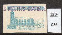 Algeria Yv. CP 161 ND Railway Station / Gare De Bone : 25F En Bleu-vert (greenish-blue) Imperf. MNH - Parcel Post