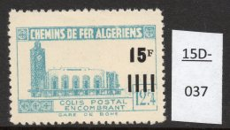 Algeria Yv. CP 164 Railway Station / Gare De Bone : 15F/12F4 En Bleu-vert (greenish-blue)  MH - Algeria (1924-1962)
