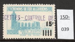 Algeria Yv. CP 164 Railway Station / Gare De Bone : 15F/12F4 En Bleu-vert (greenish-blue)  MH - Parcel Post