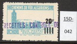 Algeria Yv. CP 165 Railway Station / Gare De Bone : 20F/18F8 En Bleu-vert (greenish-blue)  MNH - Parcel Post