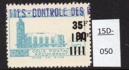 Algeria Yv. CP 187 Railway Station / Gare De Bone : 35F/30F/25F2 En Bleu-vert (greenish-blue)  MH - Algeria (1924-1962)