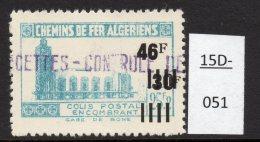 Algeria Yv. CP 188 Railway Station / Gare De Bone : 46F/30F/125F2 En Bleu-vert (greenish-blue)  MH - Parcel Post