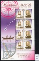 Solomon Islands : Edmund Halley Diving Bell Cosmos Astronomy 2006 Sheetlet(1) MNH
