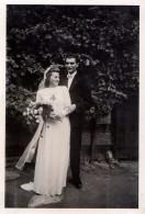 Photo Originale Mariage - Couple De Mariés Allemands Le 17.09.1945 - - Personnes Identifiées
