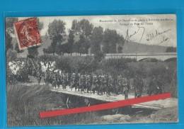 C.P.A. Bainville-sur-Madon - Manoeuvres  Et Passage Du Pont Sur Pilotis - Andere Gemeenten