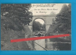 C.P.A. HEMING - Strassenbrücke Rheine-Marne-Kanal - Péniche Sous Le Pont - France