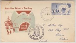 AAT 1958 Map 1v FDC Ca Mawson (30719) - FDC