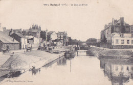 Bc - Cpa REDON - Le Quai De Brest - Redon