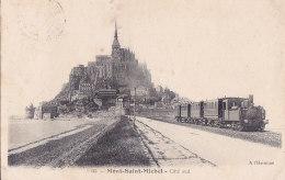 Bc - Cpa MONT SAINT MICHEL - Côté Sud (locomotive , Train) - Le Mont Saint Michel