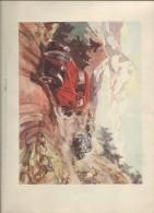 Gravure/ La Caravane Des SIMCA 5 / Tour De France /Cols Des Alpes / Géo HAM/ Vers 1936   GRAV89 - Old Paper