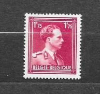 België 1950 Y&T  Nr° 832 (*) Licht Spoor Van Scharnier - Belgium