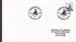 Denmark Sonderstempel KØBENHAVN S. 1964-1989 Cover Brief 25 Års Jubilæum Postman On Bike Fahrrad Velo - Denemarken