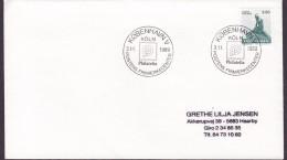 Denmark Sonderstempel KØBENHAVN S. 1989 Cover Brief KÖLN Philatelia Cachet Little Mermaid Meeresfrau Stamp - Denemarken