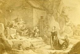 France Lille Musée Peinture Tentation Saint Antoine Ancienne CDV Photo 1865 - Photographs