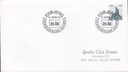 Denmark Sonderstempel ESBJERG 1989 Cover Brief Esbjerg Filatelistklubs Junior Afdeling Little Mermais Meeresfrau Stamp - Denemarken
