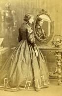 Londres Theatre Actrice Henrietta Simms Reflection Miroir Ancienne CDV Photo Edwards 1864 - Photographs