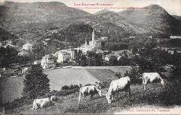 DEPT 65 - LOURDES - Vue Sur La Basilique Et Les Montagnes Environnantes - ENCH0616 - - Lourdes