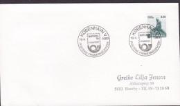 Denmark Sonderstempel KØBENHAVN V. 1989 Cover Brief NAPOSTA '89 Frankfurt Little Mermaid Meeresfrau Stamp - Denemarken