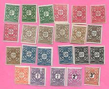 1600   ~~  1914/27  -  DAHOMEY  Taxe   N°  9 / 18   Oblitérés - Bénin – Dahomey (1960-...)