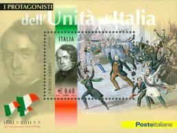 ITALIA REPUBBLICA 2011 - Protagonisti Unità D'Italia. V. Gioberti. Foglietto ** -  UNIF. N. BF64 - Blocchi & Foglietti