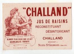 Juin16   75382   Buvard   Jus De Raisins  Challand   Nuits St Georges - Liqueur & Bière