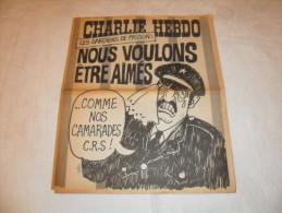 ANCIEN / 1er SERIE /  CHARLIE HEBDO  N° 194 /  CABU  / AOUT  1974 - Magazines Et Périodiques