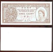 Hong Kong 1 Cent 1986-92 Pick 325-d UNC - Hong Kong