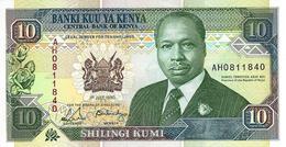 KENYA 10 SHILLINGS 1990 P-24b UNC [ KE125b ] - Kenya