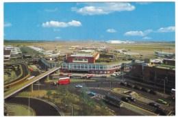 Heathrow International Airport, London UK, Queens Building And Maintenance Area, C1970s Vintage Postcard - Aerodromi