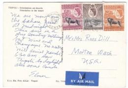 Kenya, Uganda & Tanganyika Sc#103 5-cent #107 20-cent #112 1 Shilling 1957 Cover Nairobi To Washington State USA - Kenya, Uganda & Tanganyika