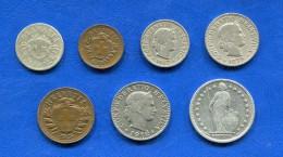 Suisse  5  Rappen  1887  +  6  Pieces - Svizzera