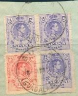 GUADALAJARA , ED. 269 , 3 X 270 , SOBRE FRAGMENTO , MATASELLOS DE BUDIA - Usati