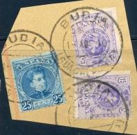 GUADALAJARA , ED. 248 , 2 X 270 , SOBRE FRAGMENTO , MATASELLOS DE BUDIA - Usati