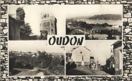 Cpsm  Pf  - OUDON - Multivues   65 - Oudon