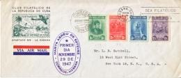 CUBA    FDC  COVER  1947 - Cuba