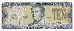 LIBERIA 10 DOLLARS 2009 P-27e UNC [ LR307e ] - Liberia