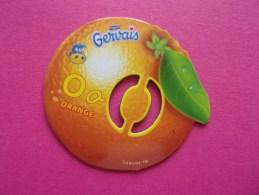Magnet Danone  Gervais Orange Fruit Lettre O - Letters & Digits