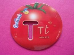 Magnet Danone  Gervais Tomate Fruit Lettre T - Lettres & Chiffres