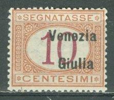 ITALIA - OCCUPAZIONI - VENEZIA GIULIA - SEGNATASSE 1918: Sassone 2, ** MNH - FREE SHIPPING ABOVE 10 EURO - Venezia Giulia