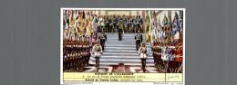 CROMO LIEBIG  HISTOIRE  DE L ALLEMAGNE  LE ROI DE PRUSSE PROCLAME EMPEREUR - Liebig