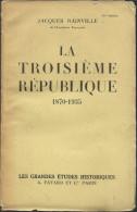 Livre  De Jacques Bainville - La Troisième République  1870 - 1935 - Histoire